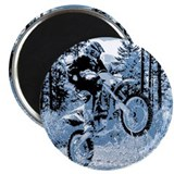 """Fun in the Woods"" (Blue) Magnet"