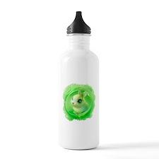 Cute Bunny in Green Water Bottle