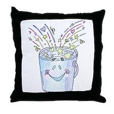 Happy Bucket Throw Pillow