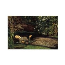 Millais Ophelia Rectangle Magnet
