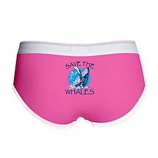 Save the Whales Women's Boy Brief