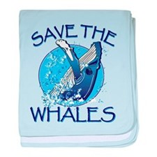 Save the Whales baby blanket