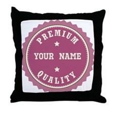 Personalized Premium Quality Throw Pillow
