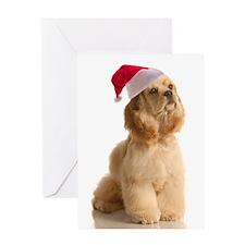 Santa Cocker Greeting Card