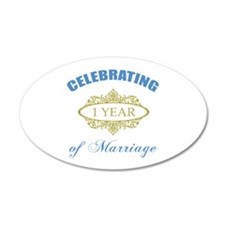 Celebrating 1 Year Of Marriage Wall Decal