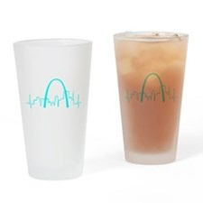 St. Louis Heartbeat AQUA Drinking Glass