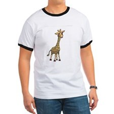 Giraffe! Original Illustartion by Rae Hall T-Shirt