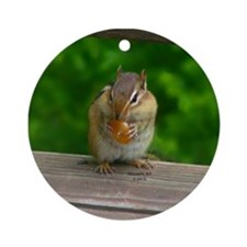 Chipmunk Ornament (Round)