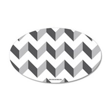 Chevron Grey Zig Zag Wall Decal