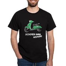 Scooter Woman (Green) T-Shirt