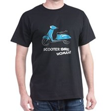 Scooter Woman (Turquoise) T-Shirt
