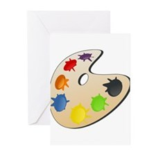 Art Paint Palette Greeting Cards (Pk of 10)