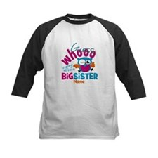 Personalized Big Sister - Owl Baseball Jersey