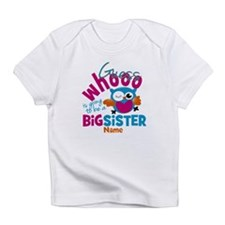 Personalized Big Sister - Owl Infant T-Shirt