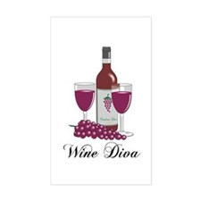 Wine Diva Rectangle Decal