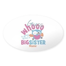 Personalized Big Sister - Owl Decal