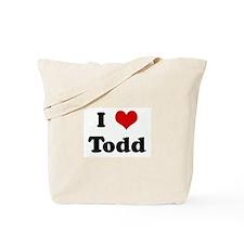 I Love Todd Tote Bag