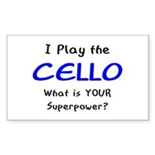 play cello Decal