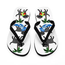 Go To Beach Black Labs Flip Flops