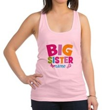Personalized Name - Big Sister Racerback Tank Top
