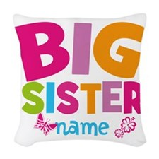 Personalized Name - Big Sister Woven Throw Pillow