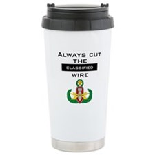 "Cut the ""Classified"" wire Travel Mug"