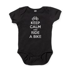 Keep Calm and Ride a Bike Baby Bodysuit