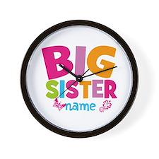 Personalized Name - Big Sister Wall Clock