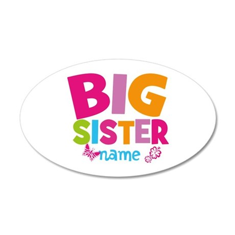 Personalized Name - Big Sister Wall Sticker