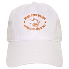 Wash Your Hands! Orange Baseball Cap