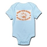 Wash Your Hands! Orange Infant Bodysuit