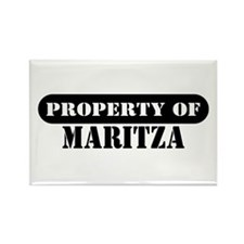Property of Maritza Rectangle Magnet (10 pack)