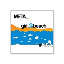 "Meta Girl Square Sticker 3"" x 3"""