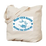 Wash Your Hands! Blue Tote Bag