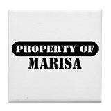 Property of Marisa Tile Coaster