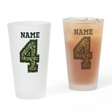 Personalized Camo 4 Drinking Glass