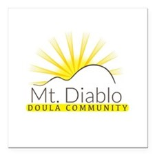 "MDDC Doula Community Square Car Magnet 3"" x 3"""