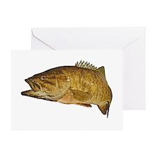 Smallmouth Bass Art Affect Greeting Card