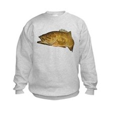 Smallmouth Bass Art Affect Sweatshirt