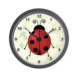 Ladybug Wall Clock