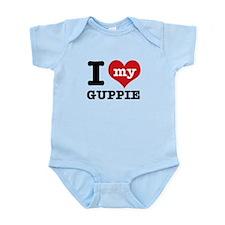 I heart Guppie designs Infant Bodysuit