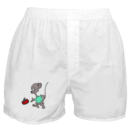 """Curling mouse"" Boxer Shorts"