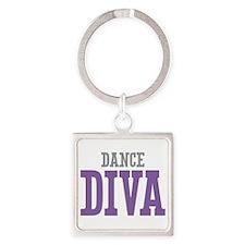 Dance DIVA Square Keychain