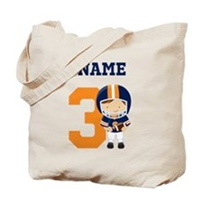 Personalized Football 3 Tote Bag