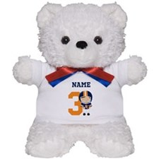Personalized Football 3 Teddy Bear