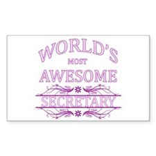 World's Most Awesome Secretary Decal