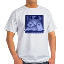 Silver Shaded Persians Ash Grey T-Shirt