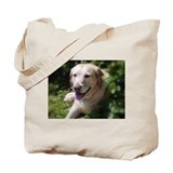 Honeysuckle Yellow Lab Tote Bag