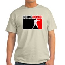 Boxing Rocks! Ash Grey T-Shirt