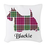 Terrier - Blackie Woven Throw Pillow